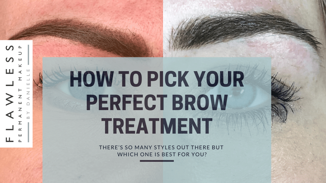 Different permanent makeup brow styles